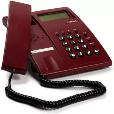 Beetel M51 Landline Phone Corded Landline Phone (Dark Red)
