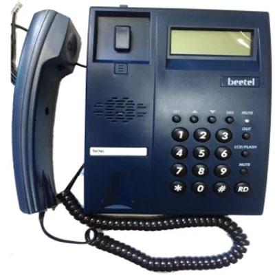 Beetel M51 Corded Landline Phone (Blue)