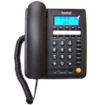 Beetel M59 Corded Landline Phone Black