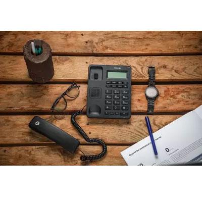 Motorola CT210I Corded Telephone with Display Corded Landline Phone (Black)