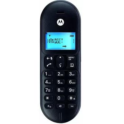 Motorola T101 Corded & Cordless Landline Phone (Black)