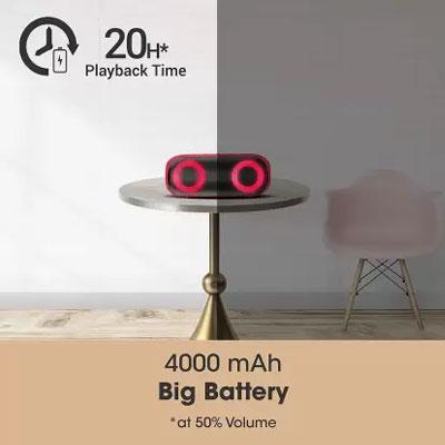 Zebronics Zeb-Music Bomb X Wireless 20W Portable Speaker (Red)