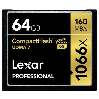 Lexar Professional 1066x 64GB CompactFlash card LCF64GCRBNA1066