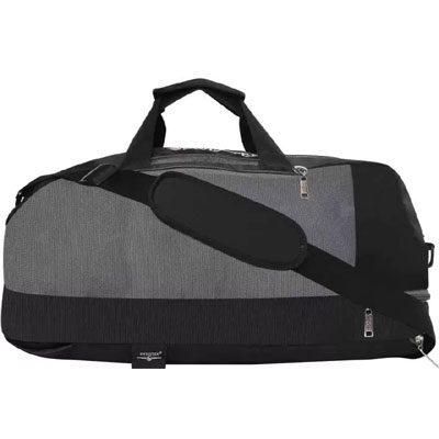 Swisstek BP-016 Duffle Cum Sports Back Pack Black Grey