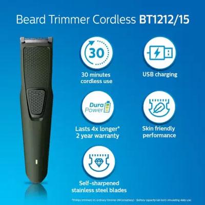 Philips BT1212/15 Runtime: 30 min Trimmer for Men