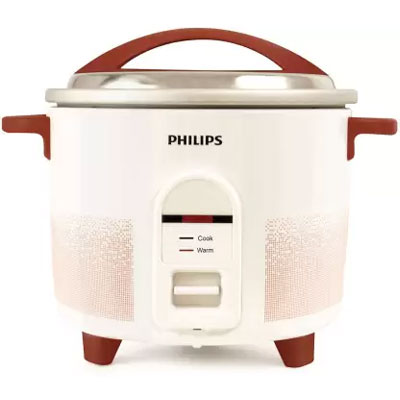 Philips HL1665/00 Electric Rice Cooker (1.8 L, Red, White)