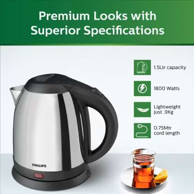 Philips HD 9306/06 Electric Kettle (1.5 L, Silver)