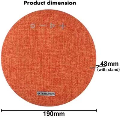 Zebronics ZEB-MAESTRO Bluetooth Speaker (Orange, 5 Way Speaker Channel)