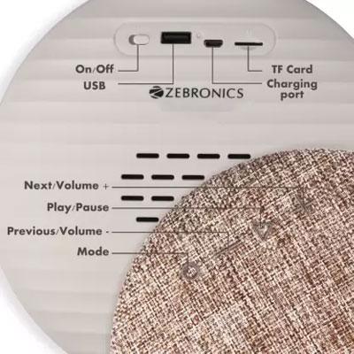 Zebronics ZEB-MAESTRO Bluetooth Speaker (Brown, 5 Way Speaker Channel)