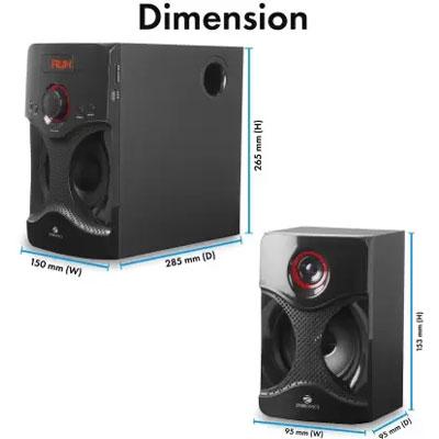 Zebronics BT3440 RUCF Bluetooth Home Audio Speaker