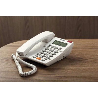 Binatone CONCEPT 700 Corded Landline Phone with Answering Machine (White)