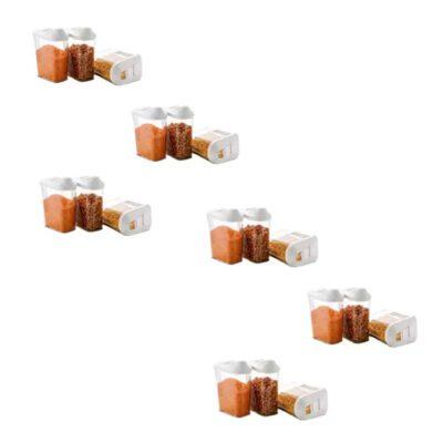 Solomon Premium Quality Easy Flow 750ML Plastic Tea Coffee & Sugar Container PACK OF 18 (WHITE)