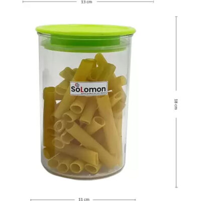 SOLOMON PREMIUM QUALITY 900ML ROUND AIRTIGHT CONTAINER PACK OF 2 (GREEN)