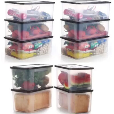 Solomon 2000ML PACK OF 10 BIG BRED Plastic Grocery Container (BROWN)