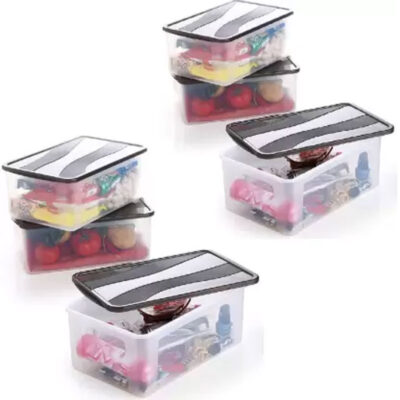 Solomon 2000ML PACK OF 6 BIG BRED Plastic Grocery Container (BROWN)