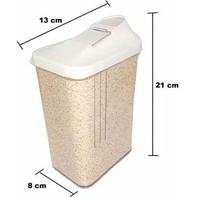 Solomon Premium Quality Easy Flow 1500ML Plastic Tea Coffee & Sugar Container PACK OF 3 (WHITE)