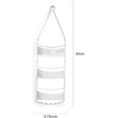 Solomon Shower Caddy 3 LAYER Plastic HANGING Wall Shelf WHITE