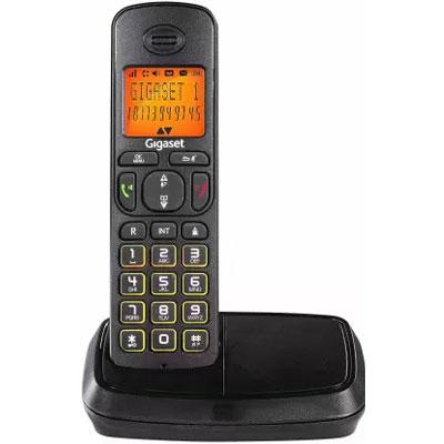 Siemens Gigaset A500 Cordless Landline Phone (Black)