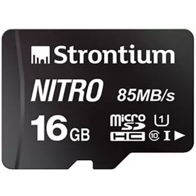 Strontium Nitro 16 GB MicroSD Card Class 10 85 MBs Memory Card