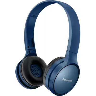 Panasonic RP-HF410BGCA Street Wireless Bluetooth Headphones (Blue)