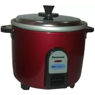 Panasonic SR-3NA (Burgundy) Electric Rice Cooker (0.3 L, Burgundy)