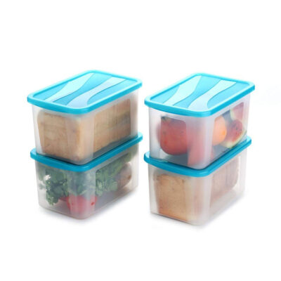 Solomon 2000ML BIG BRED Plastic Grocery Container PACK OF 4 (BLUE)