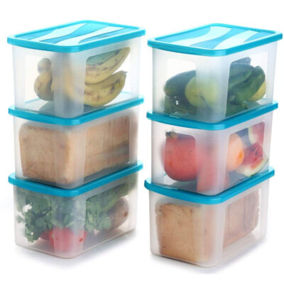 Solomon 2000ML BIG BRED Plastic Grocery Container PACK OF 6 (BLUE)