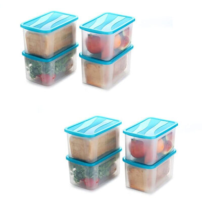 Solomon 2000ML BIG BRED Plastic Grocery Container PACK OF 8 (BLUE)