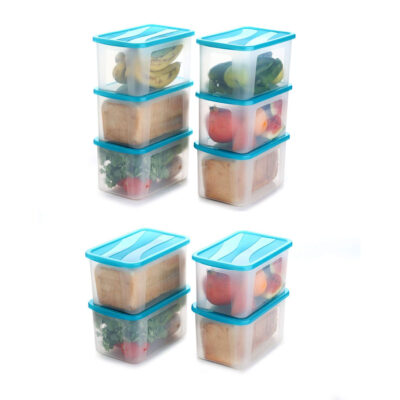 Solomon 2000ML BIG BRED Plastic Grocery Container PACK OF 10 (BLUE)