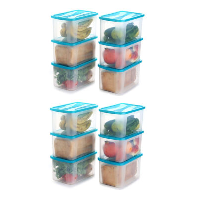 Solomon 2000ML BIG BRED Plastic Grocery Container PACK OF 12 (BLUE)