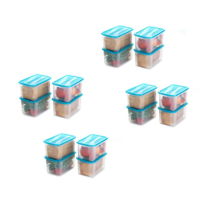 Solomon 2000ML BIG BRED Plastic Grocery Container PACK OF 16 (BLUE)