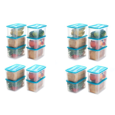 Solomon 2000ML BIG BRED Plastic Grocery Container PACK OF 20 (BLUE)