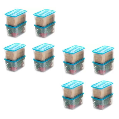 Solomon 4000ML BIG BRED Plastic Grocery Container PACK OF 16 (BLUE)