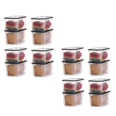 Solomon 4000ML BIG BRED Plastic Grocery Container PACK OF 16 (BROWN)