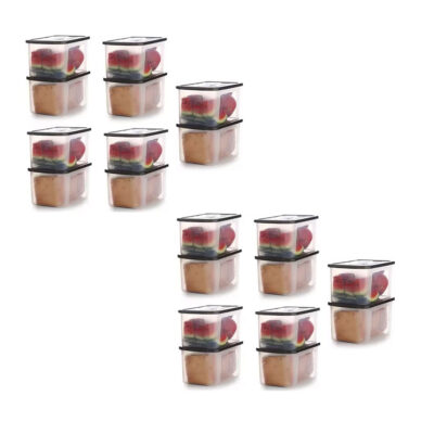 Solomon 4000ML BIG BRED Plastic Grocery Container PACK OF 20 (BROWN)