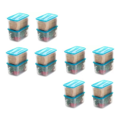 Solomon 7000ML BIG BRED Plastic Grocery Container PACK OF 16 (BLUE)