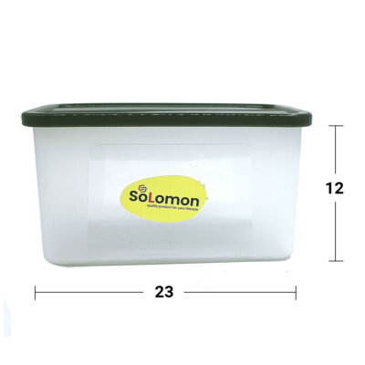 Solomon 2000ML BIG BRED Plastic Grocery Container BROWN)