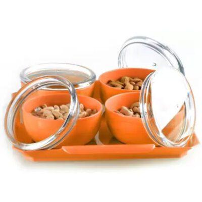 Solomon Bowl, Tray Serving Set of 5 Orange