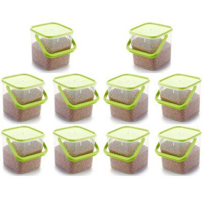 SOLOMON PREMIUM QUALITY 5KG SQUARE CONTAINER WITH GREEN CAP PACK OF 10