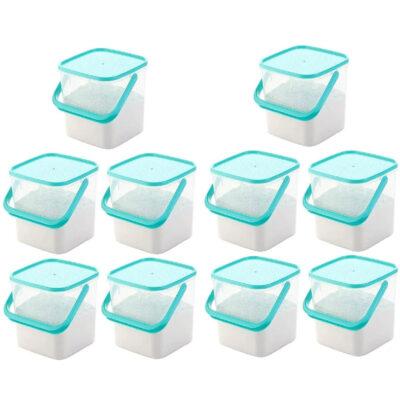 SOLOMON PREMIUM QUALITY 5KG SQUARE CONTAINER WITH BLUE CAP PACK OF 10