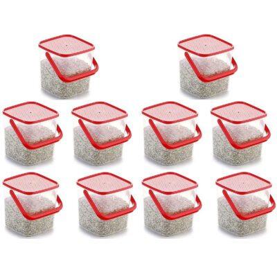 SOLOMON PREMIUM QUALITY 3KG SQUARE CONTAINER WITH RED CAP PACK OF 10