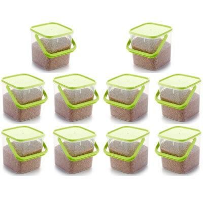SOLOMON PREMIUM QUALITY 3KG SQUARE CONTAINER WITH GREEN CAP PACK OF 10