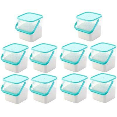 SOLOMON PREMIUM QUALITY 3KG SQUARE CONTAINER WITH BLUE CAP PACK OF 10