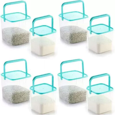 SOLOMON 3KG & 5KG SQUARE CONTAINER WITH BLUE CAP PACK OF 8