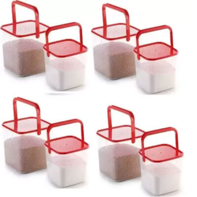 SOLOMON 3KG & 5KG SQUARE CONTAINER WITH RED CAP PACK OF 8