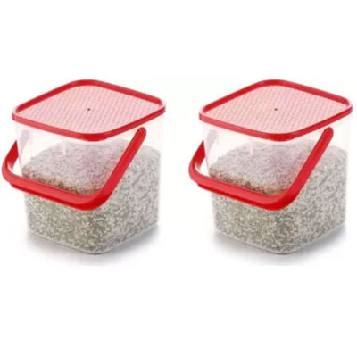 SOLOMON 5KG SQUARE CONTAINER RED PACK OF 2