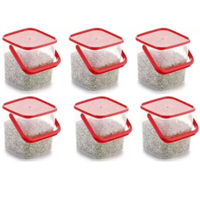 SOLOMON 5KG SQUARE CONTAINER RED PACK OF 6