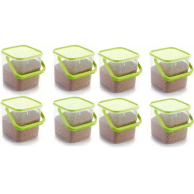 SOLOMON PACK OF 8 GREEN 3KG SQUARE CONTAINER
