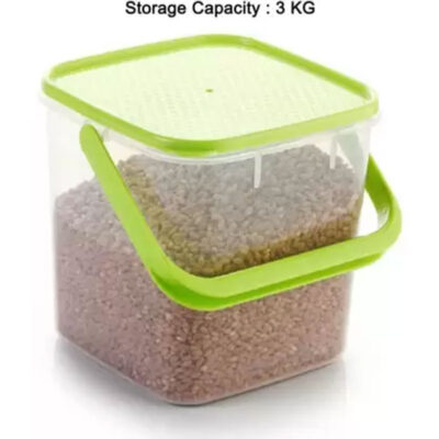 SOLOMON PACK OF 2 GREEN 3KG SQUARE CONTAINER