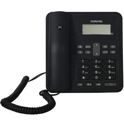 Motorola CT320I Corded Telephone with Display Corded Landline Phone (Black)
